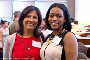 With Robin Lavin of the Osa Foundation, one of the generous funders of the CCH Scholarship Program.