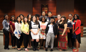 New and renewal scholarship winners, and recent graduate Daihana Estrada