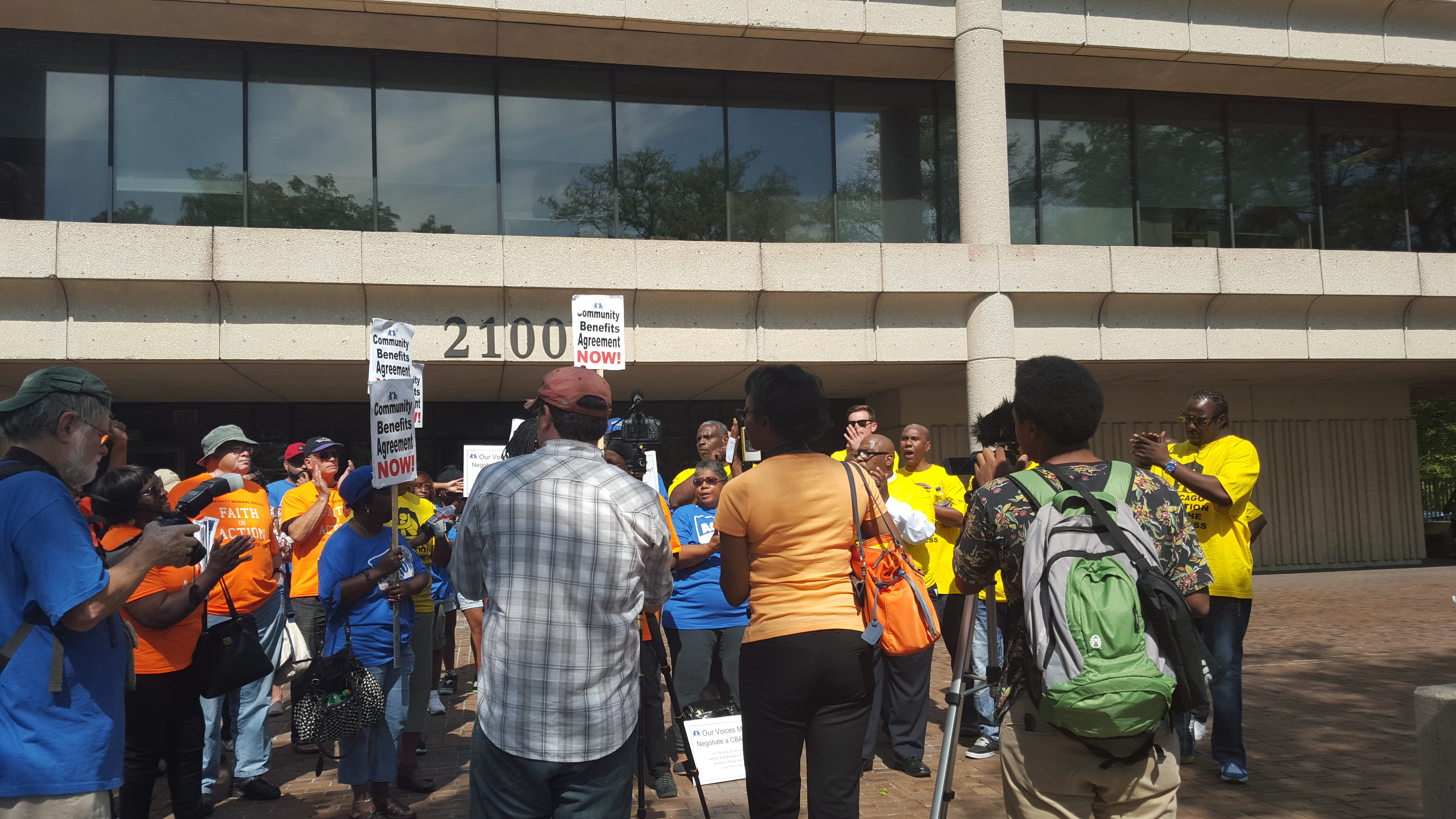 West Side Residents Demand Jobs Via A Community Benefits Agreement