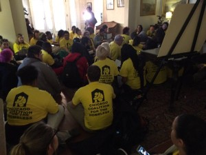 "Youth and providers ""sit-in"" at Executive Mansion in Springfield."