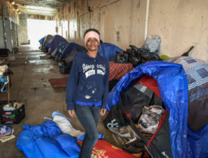 Tonya Moore, 43, who has lived under the Wilson Avenue viaduct for seven months, said she thinks the city is serious about its promise to find housing for 75 people in tent encampments along Lake Shore Drive. ÒWeÕre crossing our fingers,Ó she said. | Mark Brown/Sun-Times