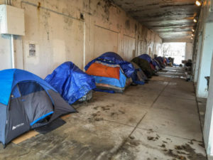 The Emanuel Administration is pledging to find housing for 75 homeless people currently living in tent encampments beneath Lake Shore Drive overpasses between Irving Park and Foster. | Mark Brown/Sun-Times