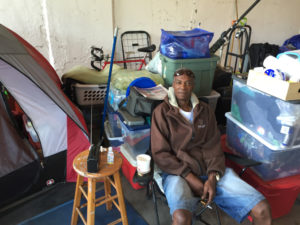 """Donald King is one of the 75 homeless people living under North Lake Shore Drive picked for a pilot city project to find them housing. """"They're going slow, but it's a process,"""" King said. """"You've got to be patient."""" 