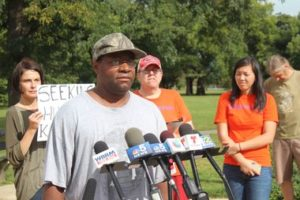 Charles Holder speaks for Tent City Voices Heard (