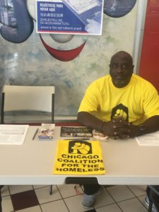 Organizer Keith Freeman oversees our voter registration efforts this fall.