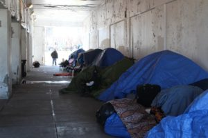 The homeless encampment under the viaduct on Wilson Avenue. (DNAinfo/Josh McGhee)