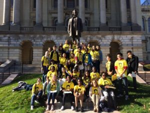 Our leaders in Springfield include these high school students from Kenwood Academy and Ogden International.