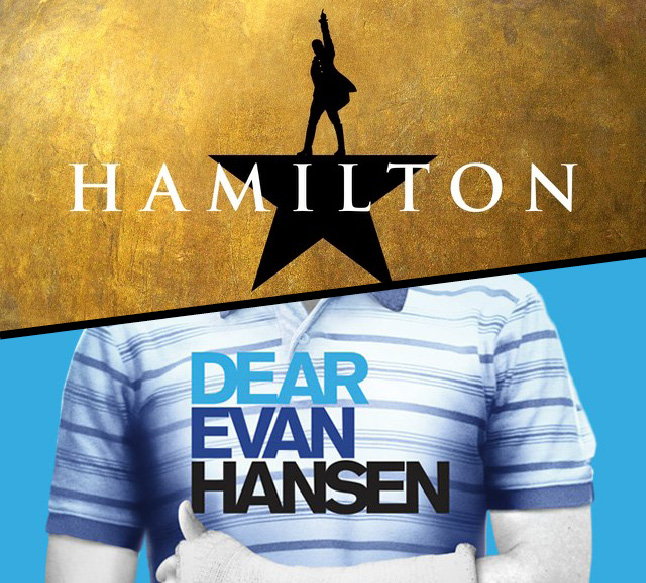Broadway in Chicago tickets to Hamilton and Dear Evan Hansen