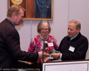 Ed Shurna and Rene Heybach honoring the Alvin H. Baum Family Fund, represented by Director Joel Friedman.