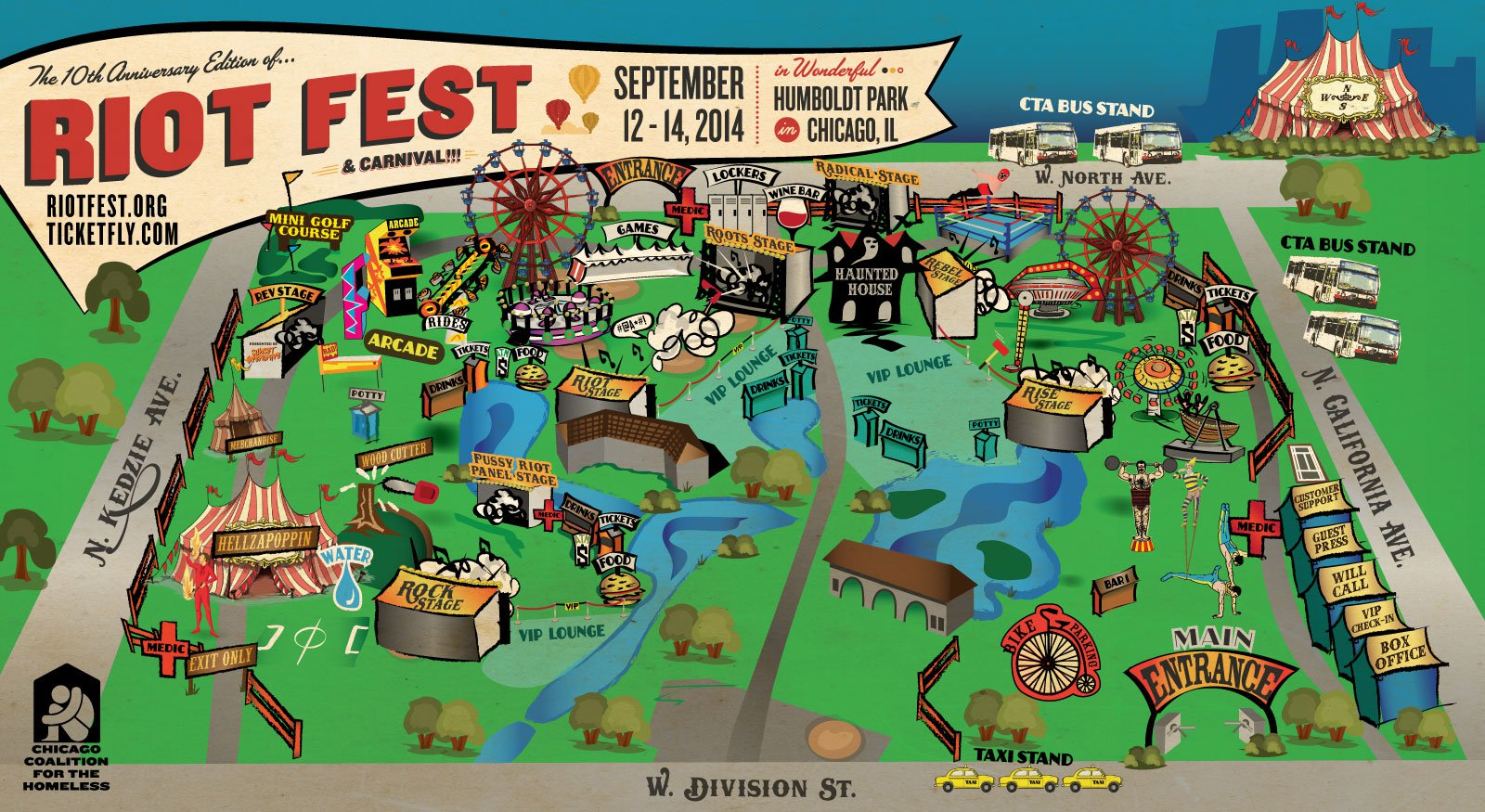 Riot Fest Map Chicago CCH partners with Riot Fest again this year   Chicago Coalition