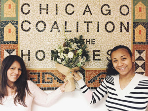Thelma and Dasia show off a Flowers for Dreams bouquet