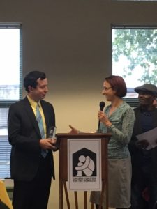 Michael Negron with CCH Policy Director Julie Dworkin